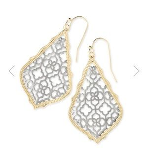 Kendra Scott addie Earrings in silver filigree mix